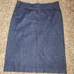 J. Crew dark wash jean skirt